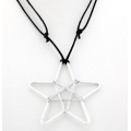 Wire Star Pentagram Necklace - Corded Necklace