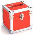 Steepletone  Orange &  Silver  Seven  Inch  Record  Case -