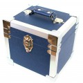 Steepletone  Blue &  Silver  Seven  Inch  Record  Case -