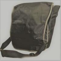 Grey / Blue Ripstop Record Bag -