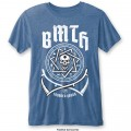 Bring Me The Horizon - Crooked Young Burnout Mid Blue T-Shirt Medium