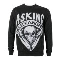 Asking Alexandria - Skull Shield Grey Sweatshirt Small
