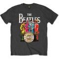 Beatles  Sgt  Pepper  Charcoal  T  Shirt  Large -