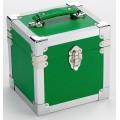 Steepletone Green & Silver Seven Inch Record Case -
