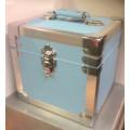 Steepletone Light Blue & Silver Seven Inch Record Case -