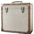 Steepletone Grey Cloth & Leather Twelve Inch Record Case -